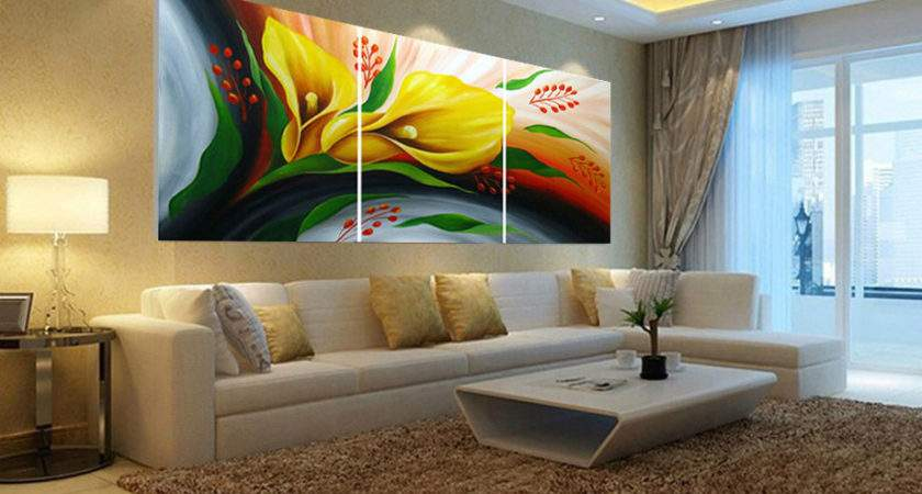 Abstract Wall Art Living Room High Quality Tri