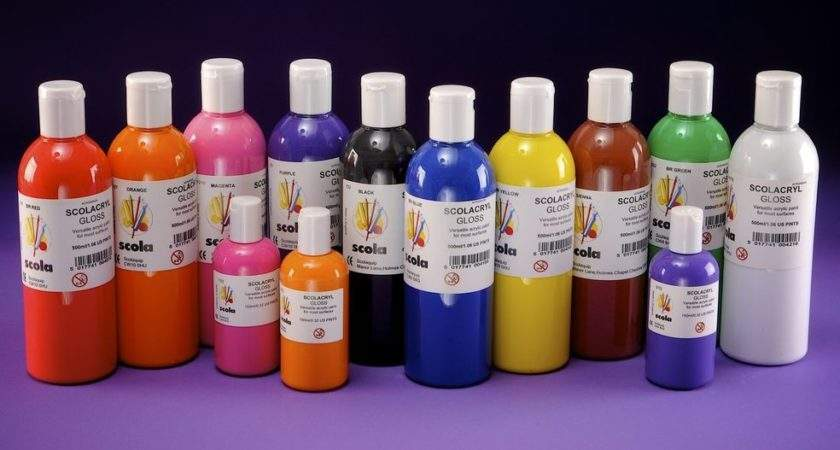 Acrylic Craft Paints Bottles Water Based Colours Ebay