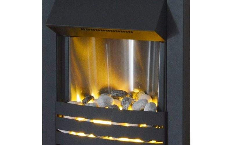Adam Helios Electric Fire Black Fireplace World