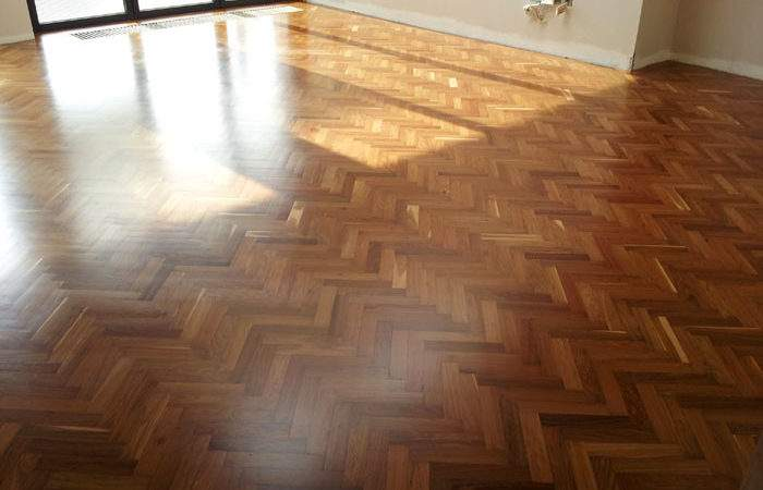 Afrormosia Reclaimed Parquet Fitting Sanding Tooting