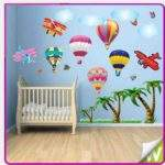 Airplane Balloon Wall Stickers Tree Baby Nursery Kids