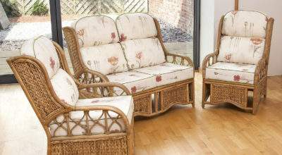 Alfresia Penang Cane Conservatory Furniture Suite