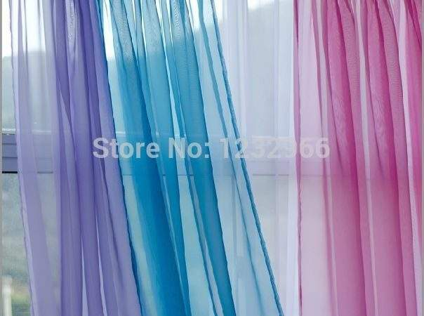 Aliexpress Buy Voile Curtain Fabric Solid