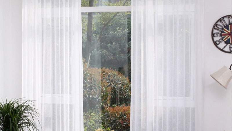 Aliexpress Buy White Sheer Voile Curtains Single