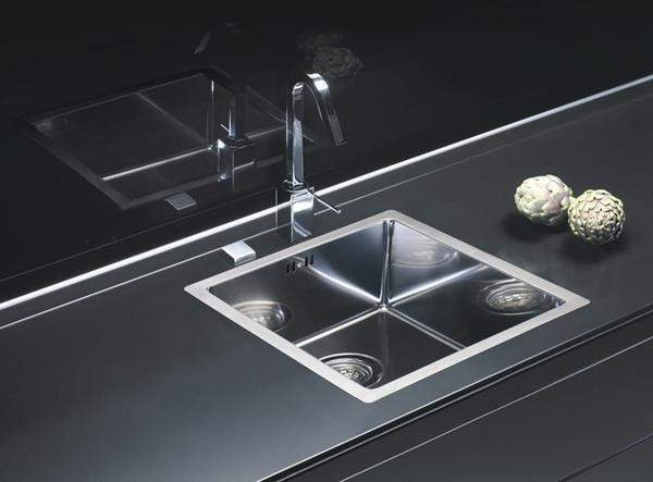 Alveus Quadrix Flush Flat Undermount Mount Sink