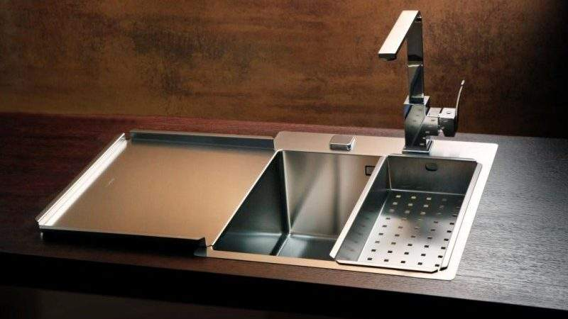 Alveus Stylux Pop Kitchen Flush Flat Mount Sink