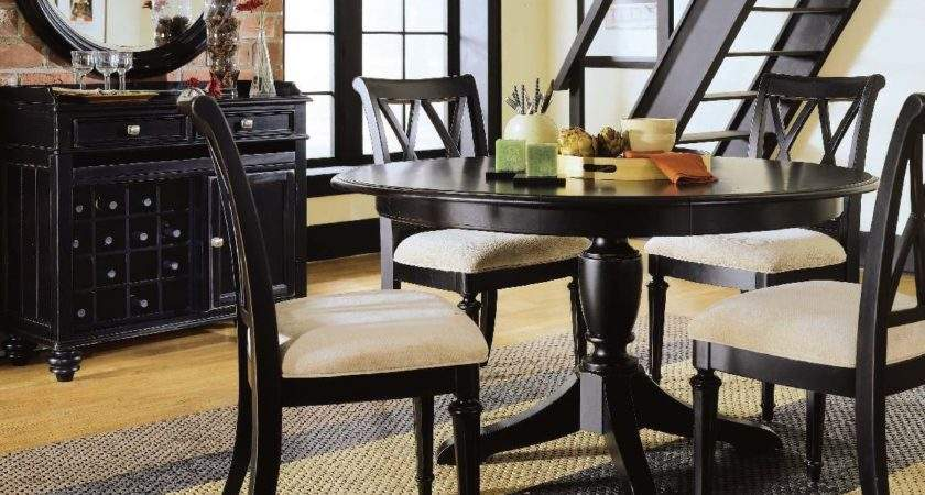 American Drew Camden Dark Piece Round Dining Room Set