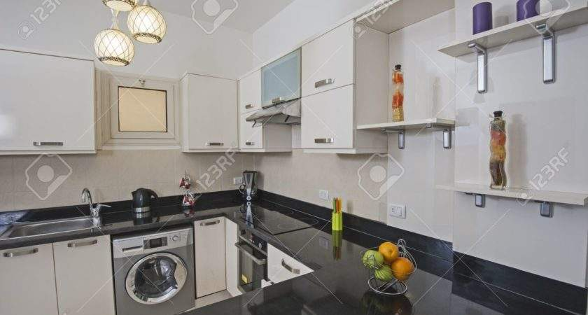 American Style Kitchen Area Luxury Apartment Showing