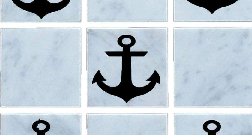 Anchor Vinyl Wall Tile Stickers Decal Transfers