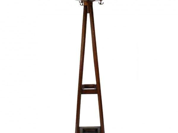 Antique Hat Coat Stand Oak