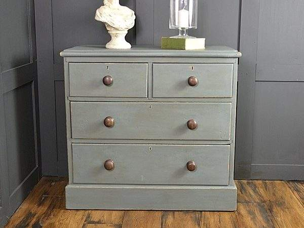 Antique Pine Shabby Chic Chest Drawers Bedroom