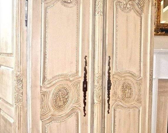 Antique Shabby Chic French Armoire