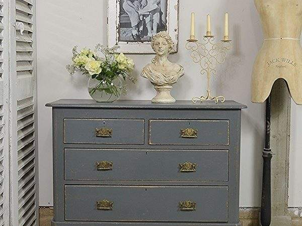 Antique Shabby Chic Pine Chest Drawers Bedroom