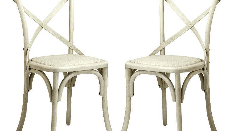 Antique White Cafe Chairs
