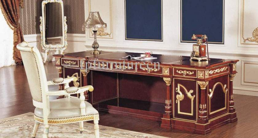 Antique White Home Office Furniture Lighting