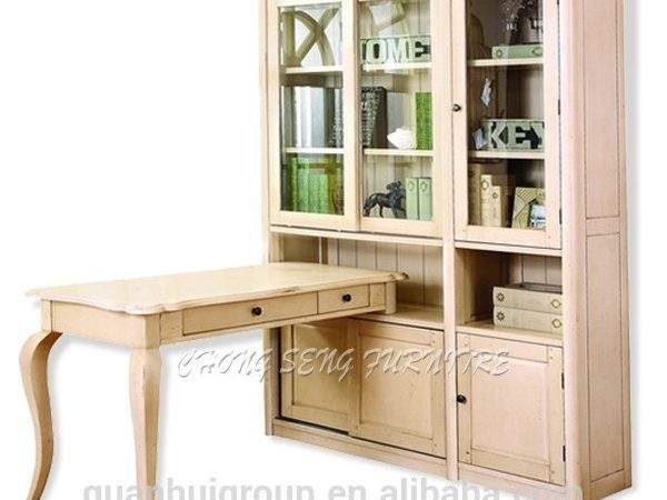 Antique White Home Office Room Furniture Kids Wooden