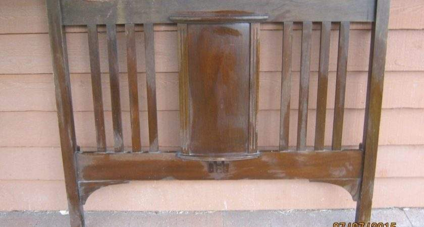 Antique Wooden Double Bed Head End Ebay