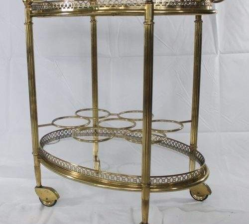 Antiques Atlas Oval Vintage French Brass Drinks Trolley
