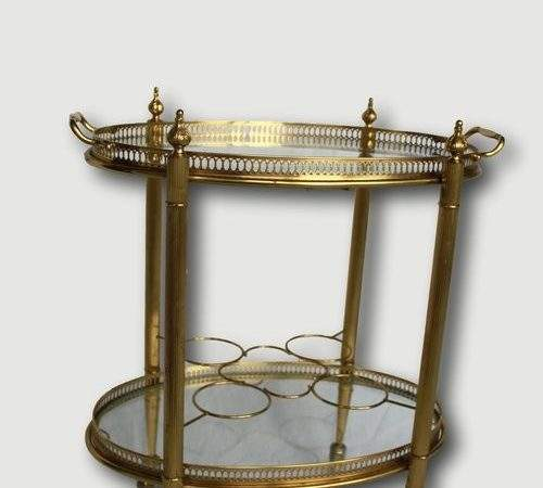 Antiques Atlas Vintage French Brass Drinks Trolley