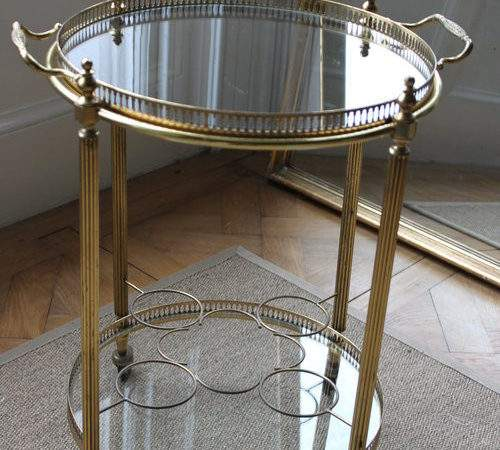 Antiques Atlas Vintage French Circular Drinks Trolley