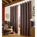 Archie Fully Lined Eyelet Curtains Ready Made Heavy