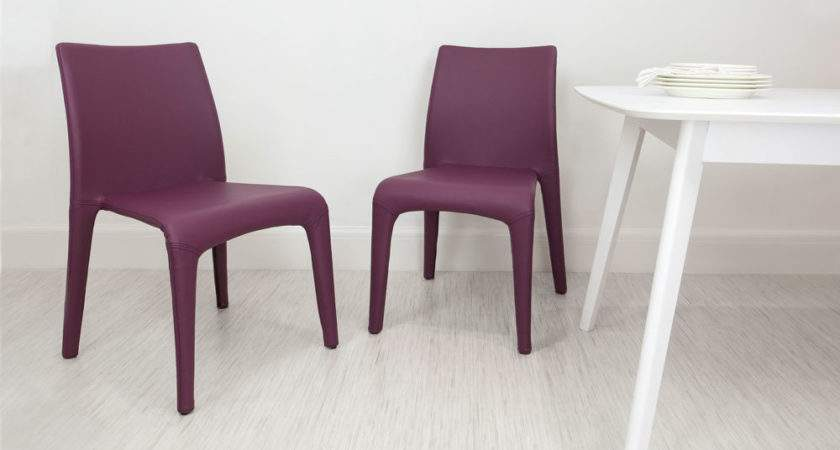 Argenta Coloured Faux Leather Chair Modern Funky Colours