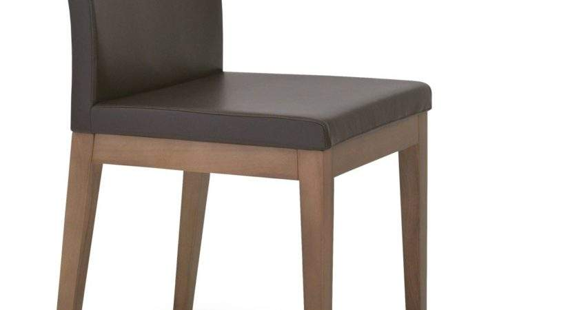Aria Wood Dining Chair Solid Beech Walnut Color Brown