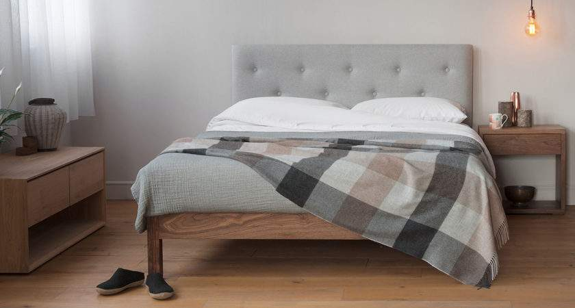 Arran Pure Wool Covered Headboard Bed Natural Company