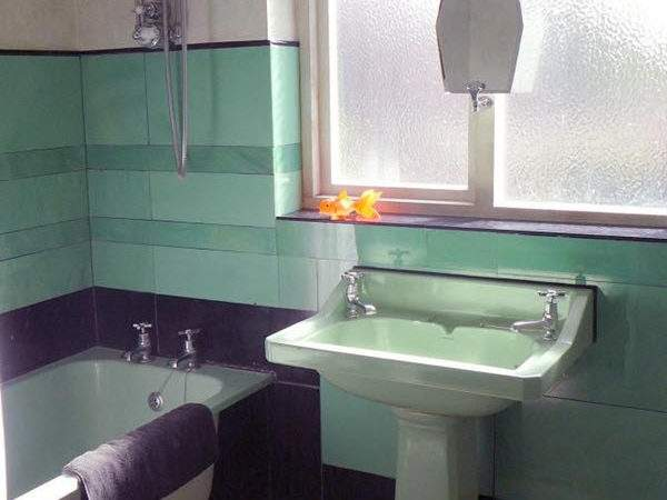 Art Deco Green Bathroom Tiles Ideas