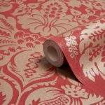 Arthouse Napoli Red Gold Grand Damask Glitter Effect