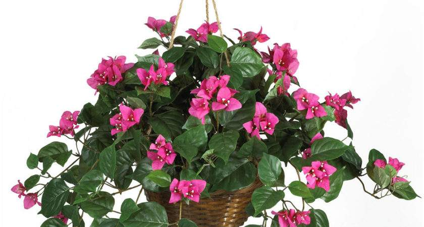 Artificial Flowers Hanging Garden Basket Interior Design