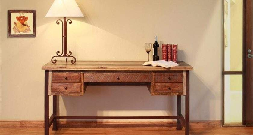 Artisan Home Office Two Tone Antique Desk Ifd