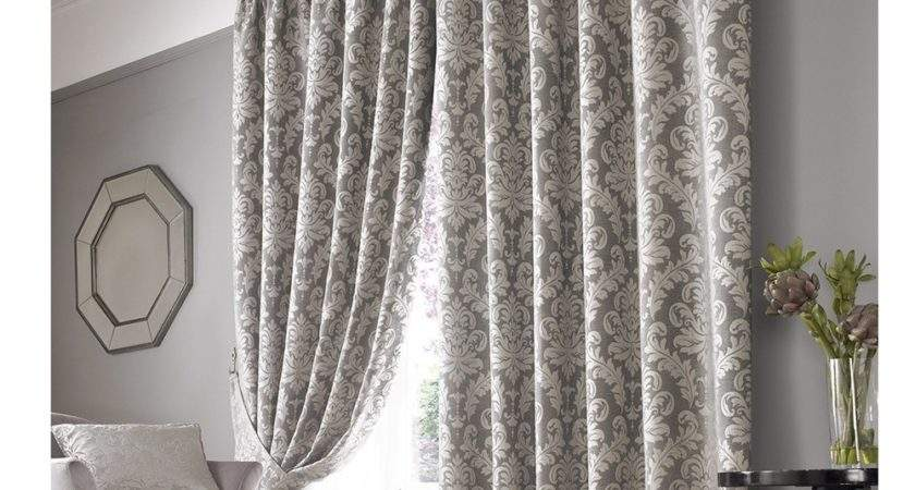 Ashley Wilde Lille Ivory Silver Chenille Damask Lined