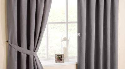 Atlanta Dove Grey Pencil Pleat Curtains Matching Tie