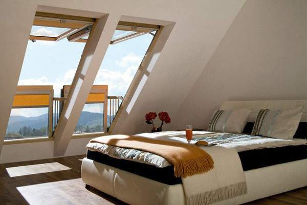 Attic Rooms Converted Into Simple Yet Elegant Bedrooms