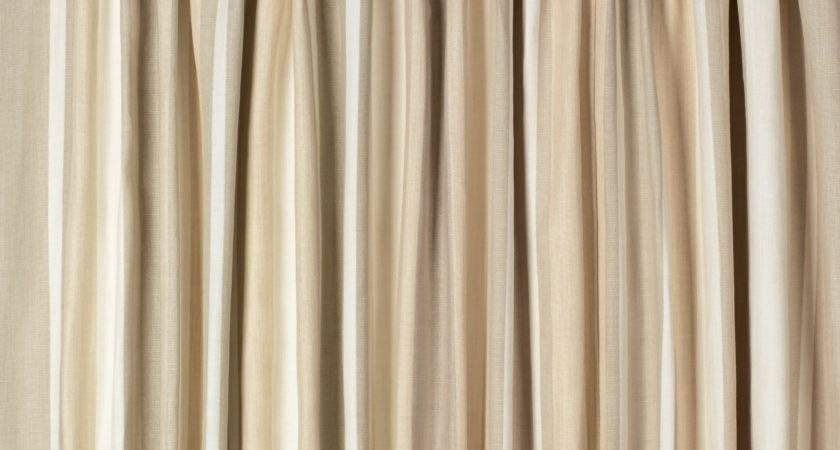 Awning Stripe Cotton Pencil Pleat Ready Made Curtains