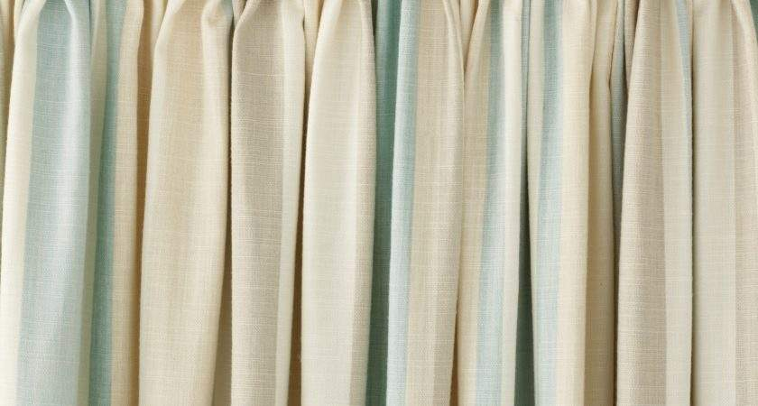 Awning Stripe Duck Egg Ready Made Curtains Laura Ashley
