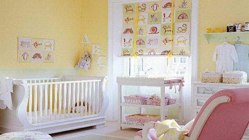 Baby Boy Nursery Ideas Yellow Wall Home Interior Design