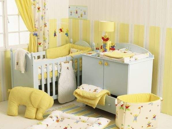 Baby Girl Nursery Idea Soft Yellow Beige Room