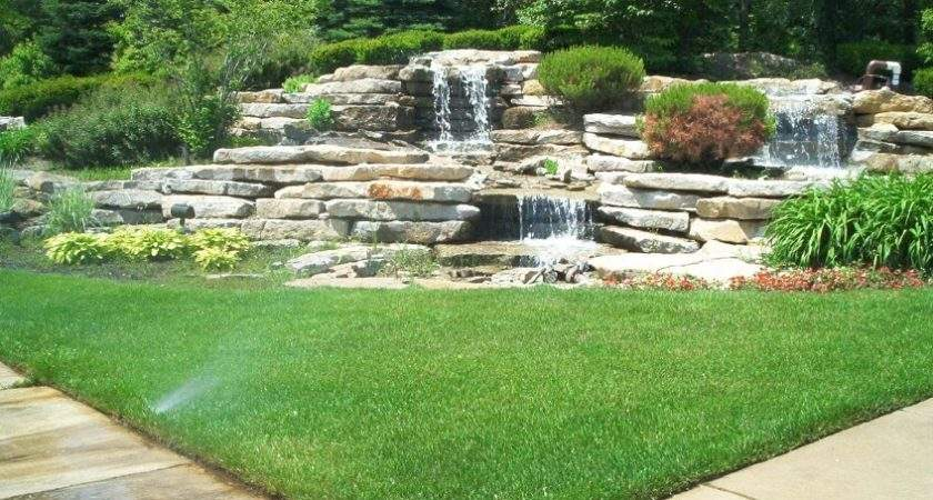 Backyard Garden Waterfalls Ideas Designs