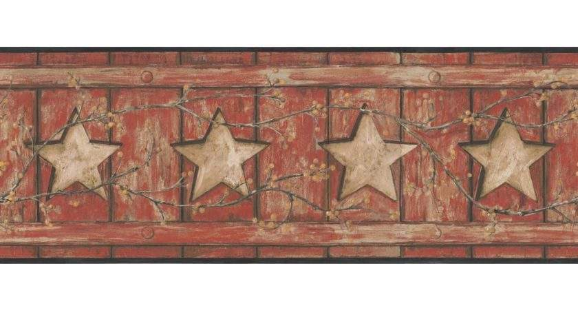 Barn Star Berry Vine Country Keepsakes Border