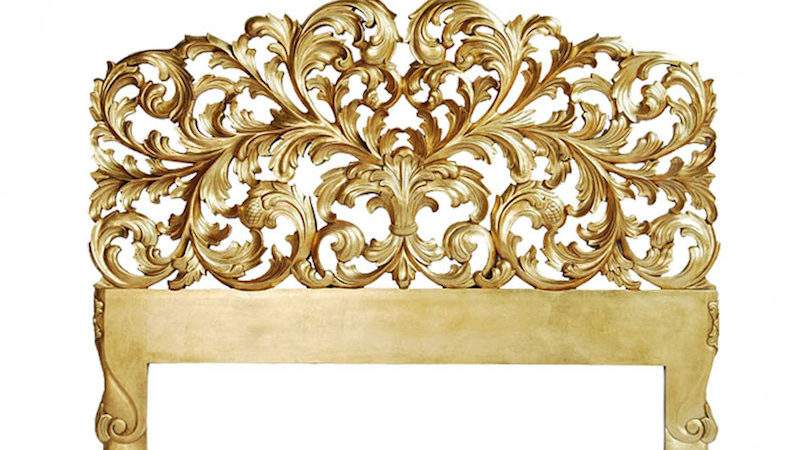 Baroque French Style Ornate Bed Head Antique Gold