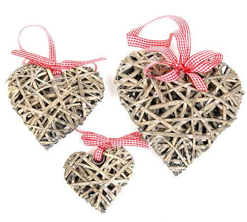 Baskets Containers Hearts Wicker Craft Florist
