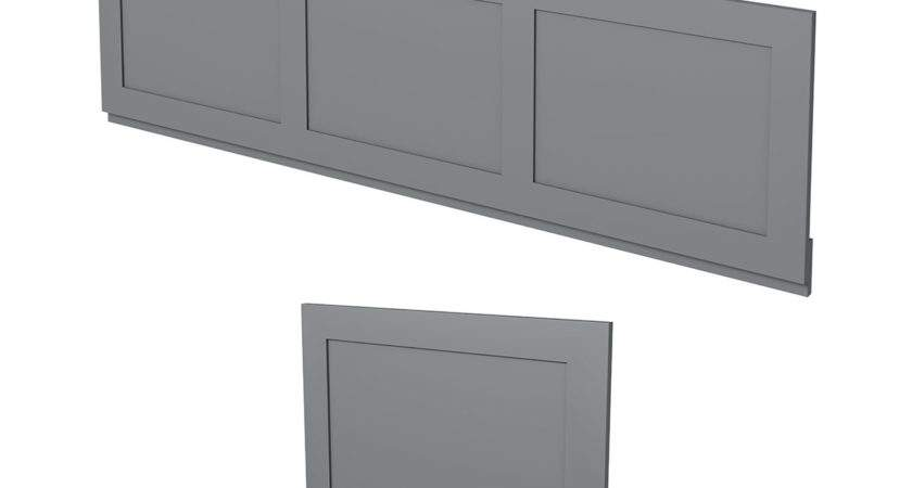 Bath Camberley Grey Wooden Panel Pack