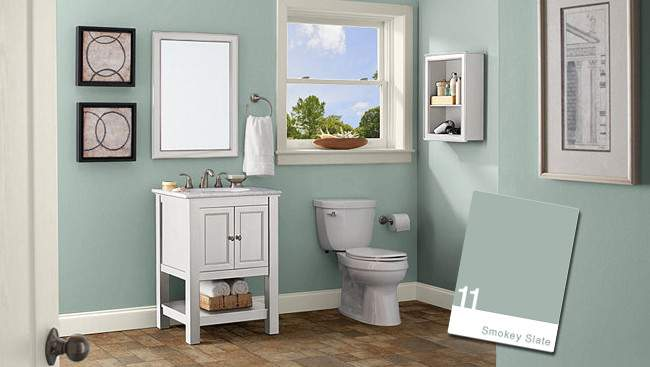 Bathroom Color Schemes Small Bathrooms Large