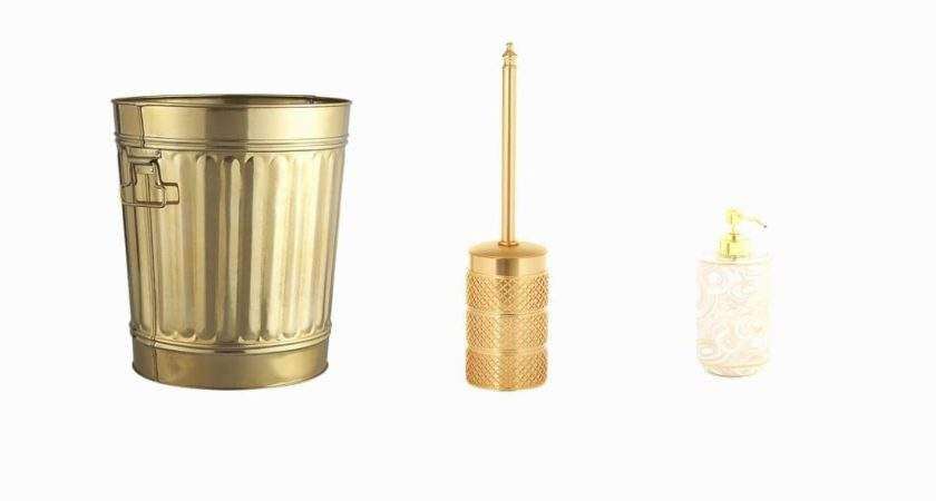 Bathroom Gold Accessories Luxury