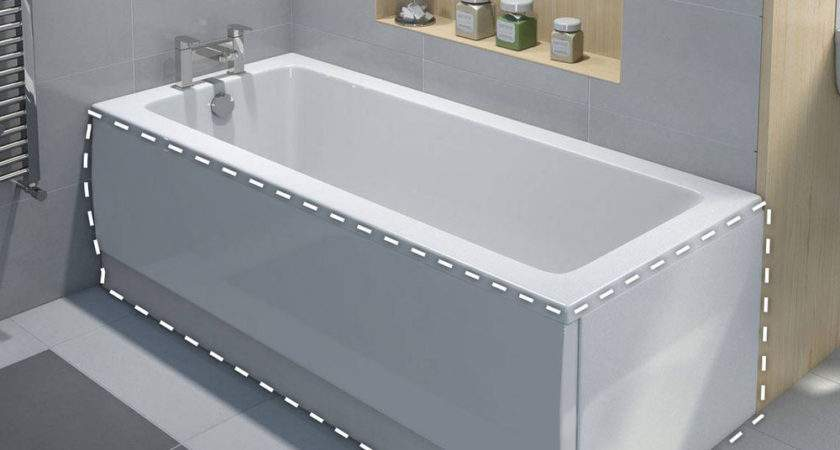 Bathroom High Gloss White Acrylic Front End Bath Panel