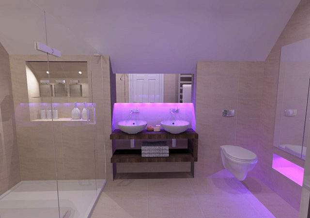 Bathroom Mood Lighting Bagnodesign Glasgow