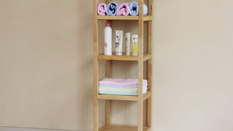 Bathroom Shelves Wooden Creative Gray