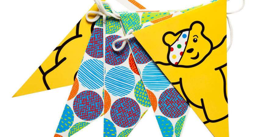 Bbc Children Need Bunting Featuring Pudsey